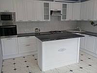 Встроенная угловая кухня + кухонный остров 6