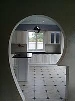 Встроенная угловая кухня + кухонный остров 1