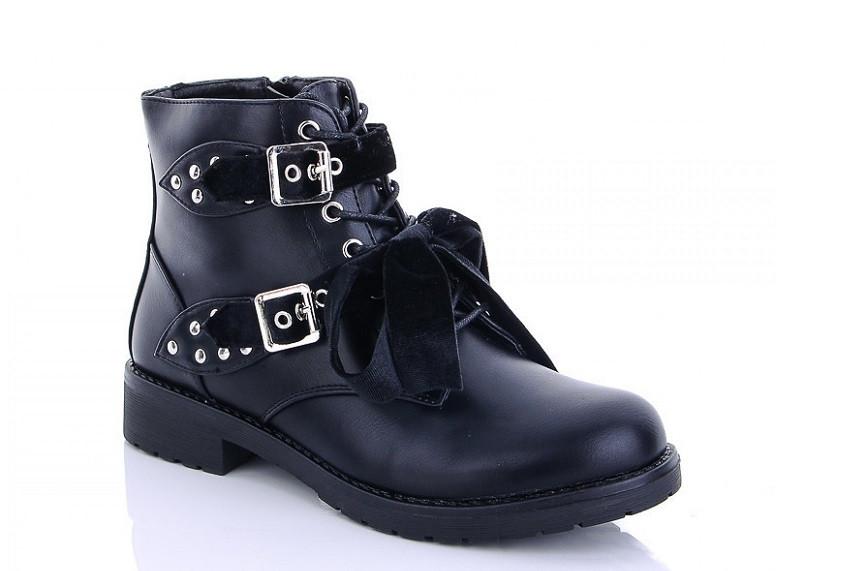 Ботинки женские черные Lion hx09