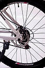 """Велосипед Спортивный S200 HAMMER 26 дюймов рама алюминий 17"""" бело-розовый, фото 7"""