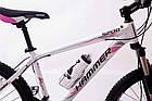"""Велосипед Спортивный S200 HAMMER 26 дюймов рама алюминий 17"""" бело-розовый, фото 5"""