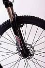 """Велосипед Спортивный S200 HAMMER 26 дюймов рама алюминий 17"""" бело-розовый, фото 2"""