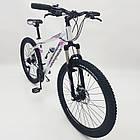 """Велосипед Спортивный S200 HAMMER 26 дюймов рама алюминий 17"""" бело-розовый, фото 8"""