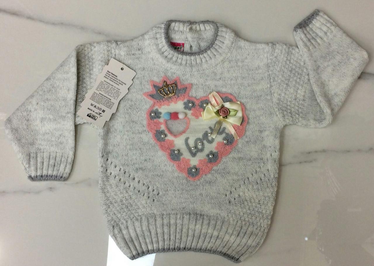 Детский свитер 1-3 года для девочек Турция оптом