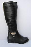 Женские черные зимние сапоги  (41)