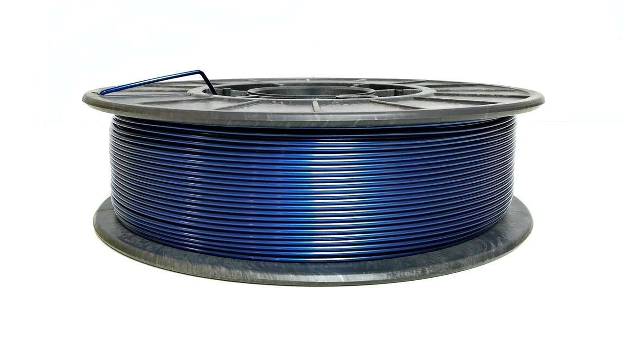 Нить PETG (CoPET, ПЕТГ) пластик для 3D печати, Синий металлик (1.75 мм/0.75 кг)