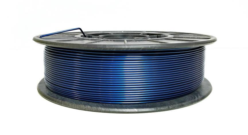 Нить PETG (CoPET, ПЕТГ) пластик для 3D печати, Синий металлик (1.75 мм/0.75 кг), фото 2