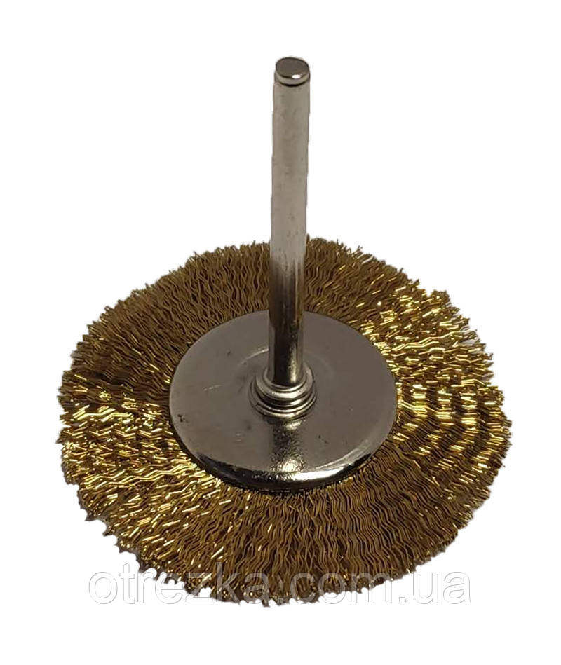 Щетка боковая для гравера из рифленой проволоки 25 мм