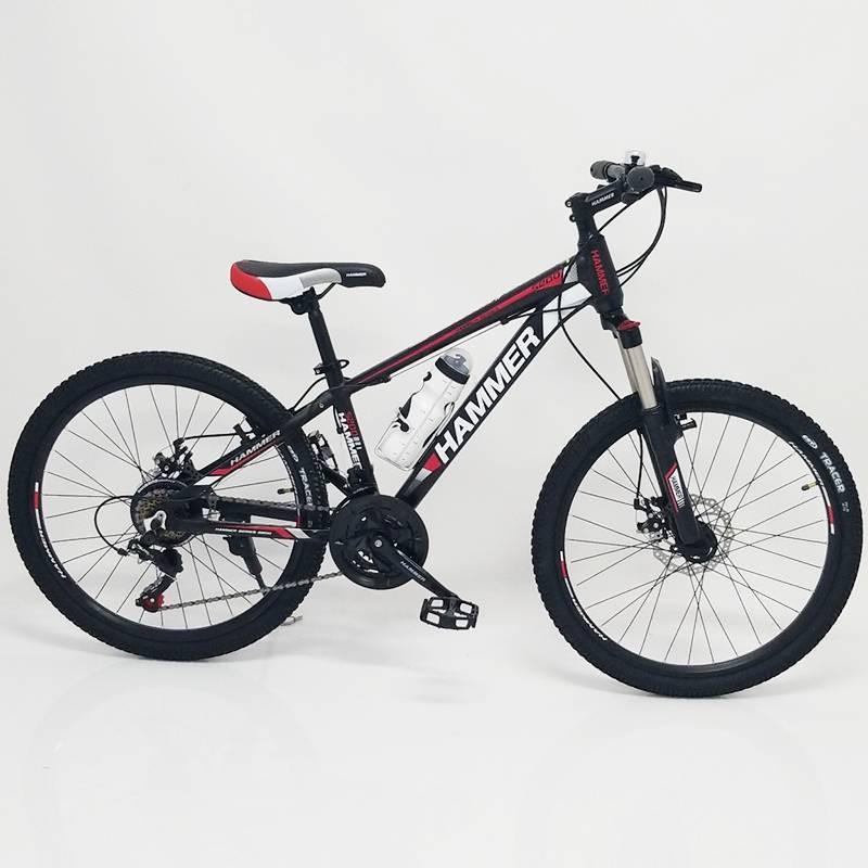 """Велосипед Спортивный S200 HAMMER колеса 24 дюйма рама алюминий 14"""" черно-красный"""