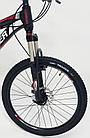 """Велосипед Спортивный S200 HAMMER колеса 24 дюйма рама алюминий 14"""" черно-красный, фото 5"""
