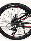 """Велосипед Спортивный S200 HAMMER колеса 24 дюйма рама алюминий 14"""" черно-красный, фото 2"""
