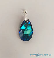 Подвеска с синим кристаллом Сваровски