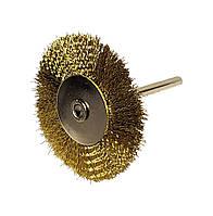 Щетка боковая для гравера из рифленой проволоки 25 мм 40, латунь