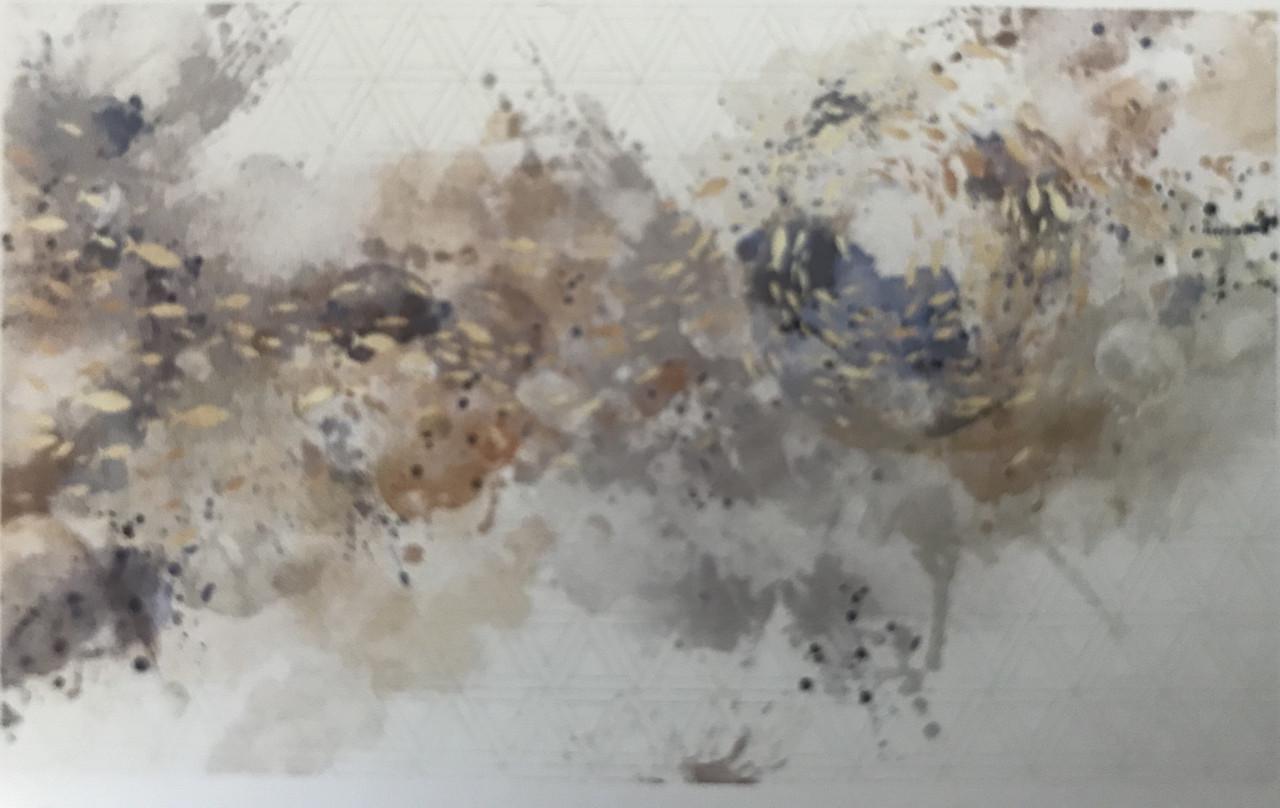 Фотообои  водостойкие Fish splash абстракция море волна рыбки коричневые синие