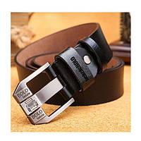 Стильный кожаный ремень Bolo Bekele (001) Черный, 110 см