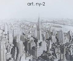 Фотошпалери безшовні флізелінові екологічно чисті New York міста мегаполісів Нью Йорк чорний білий бежевий