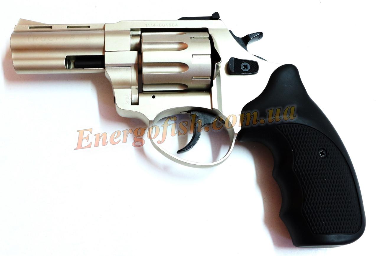 Револьвер флобера Trooper 3S силумин хром черная пласт.ручка - Energofish в Ужгороде
