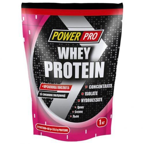 Протеин Power Pro Whey Protein клубника 1 кг