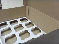 Коробка для капкейков белая, на 12 кексов, микрогофрокартон