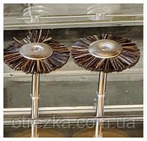 Щетка боковая для гравера из рифленой проволоки 25 мм 25, натуральная коричневый