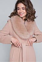Женское кашемировое пальто с натуральным меховым воротником с 42 по 48 размер, фото 3