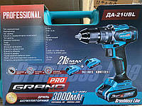 Шуруповерт аккумуляторный ударный Grand ДА-21UBL