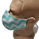 Маска для лица многоразовая тканевая  2-Х слойная защитная респиратор противовирусная, фото 4
