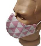 Маска для лица многоразовая тканевая  2-Х слойная защитная респиратор противовирусная, фото 5