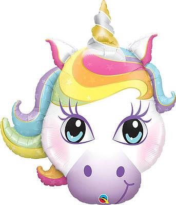 """Q 38"""" Magical Unicorn. Шар воздушный фольгированный Магический Единорог. В УП"""