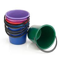 Ведро пластик цветное - 10 л (мерное)