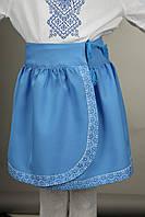 Голубая юбка вышиванка для девочки