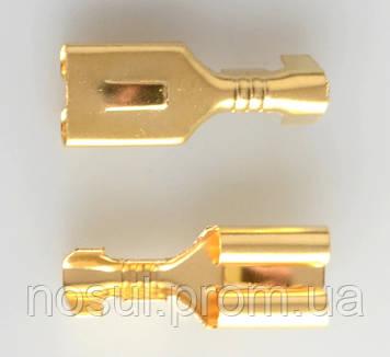 Коннектор 4,8 мм МАМА (0.75-2.5 мм2) автомобильный разъем терминальный пин клемма для проводки авто (AWG 18-14