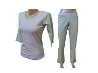 """Комплект спальный женский брюки с футболкой 3/4 PL 08 p 48 """"Ego"""" 95% хлопок цвет сиреневый"""