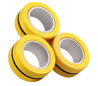 Магнитные кольца антистресс спиннер/fingears magnetic rings/фингирс/fidget spinner /фиджет кольца/ Желтый