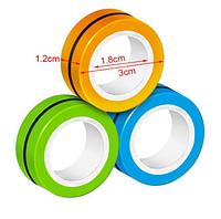 Магнитные кольца антистресс спиннер/fingears magnetic rings/фингирс/fidget spinner /фиджет кольца