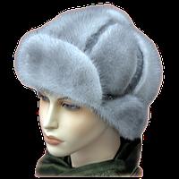 Меховая шапка норка женская сапфир