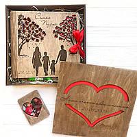 Деревянный набор альбом для фото подарок на свадьбу годовщину