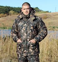"""Теплая куртка для охоты и рыбалки """"Скиф"""" камуфляж """"хвойный лес"""""""