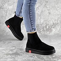 Ботинки женские зимние черные замшевые Dominique 2245, фото 1