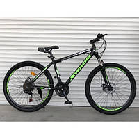Спортивный велосипед TopRider-801 26 дюймов для взрослых. Салатовый. Рама 17, фото 1