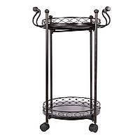 Столик сервировочний металлический на колесах, 86см * 55см