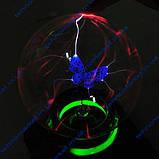 Музыкальный плазменный шар Бабочка Butterfly. Большой. Шар Тесла. Ночник молния, фото 2