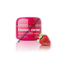 Ароматизированный гель для наращивания ногтей розовый Strawberry
