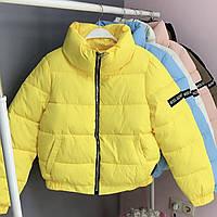 Женская короткая курточка с воротником-стойкой, фото 1