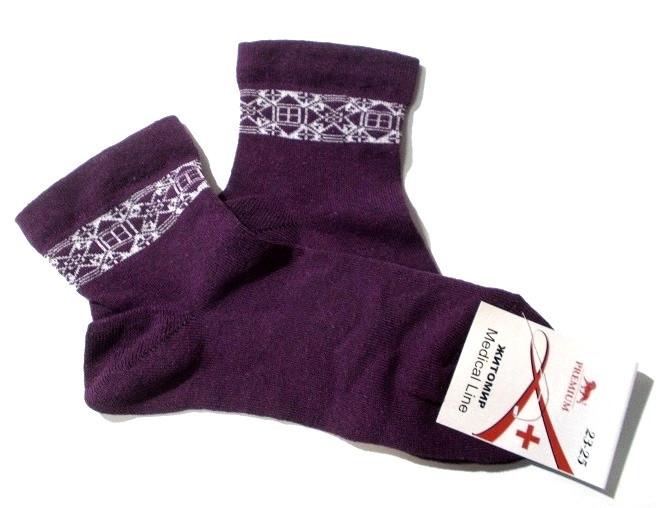 Носки без резинки Medical Line размер 23-25 (35-40) фиолетовые