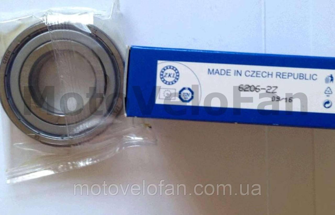 Подшипник коленвала   6206-ZZ   (30*62*16)   (к-л ЯВА, ступица ATV-500)   ZKL   (ЧЕХИЯ)   (#VCH)