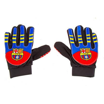Вратарские перчатки детские/подросток Barcelona, р. 5 PVC, полиэстр, фото 2
