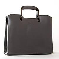 Женская кожаная сумка 1540 grey купить женскую кожаную сумку недорого Одесса 7 км, фото 1