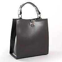 Женская кожаная сумка 9701 dark-grey купить женскую кожаную сумку недорого Одесса 7 км, фото 1