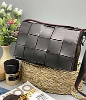 Женский клатч 099 черный с красным женские клатчи, женские сумки купить оптом в Украине, фото 1